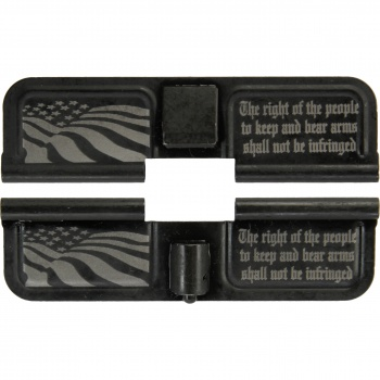 Double Sided 2nd Amendment American Flag AR-15 Laser Engraved Ejection Port Dust Cover