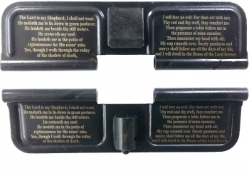Double Sided 23rd Psalm AR-15 Laser Engraved Ejection Port Dust Cover