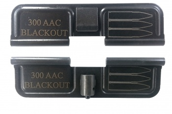 Double Sided 300ACC Blackout AR-15 Laser Engraved Ejection Port Dust Cover