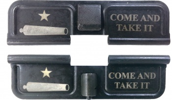 Double Sided Cannon Come And Take It AR-15 Laser Engraved Ejection Port Dust Cover