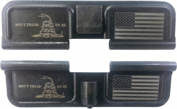 Double Sided Gadsden Flag AR-15 Laser Engraved Ejection Port Dust Cover