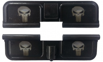 Double Sided Double Skull AR-15 Laser Engraved Ejection Port Dust Cover