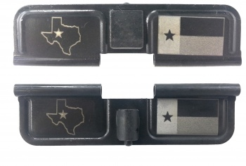 Double Sided Texas State Flag Laser Engraved Ejection Port Dust Cover