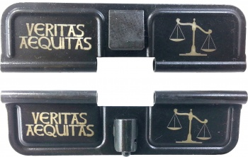 Double Sided Veritas Aequitas Truth and Justice AR-15 Laser Engraved Ejection Port Dust Cover