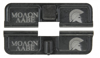 Double Sided Molon Labe / Spartan Helmet AR-15 Laser Engraved Ejection Port Dust Cover
