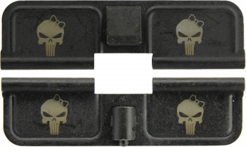 Double Sided Punisher Girl AR-15 Laser Engraved Ejection Port Dust Cover