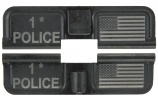 Double Sided 1* Police / USA Flag AR-15 Laser Engraved Ejection Port Dust Cover