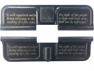 Double Sided 2nd Second Amendment AR-15 Laser Engraved Ejection Port Dust Cover