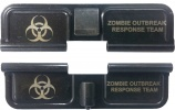 Double Sided Zombie Outbreak Response Team AR-15 Laser Engraved Ejection Port Dust Cover