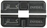 Double Sided Infidel AR-15 Laser Engraved Ejection Port Dust Cover