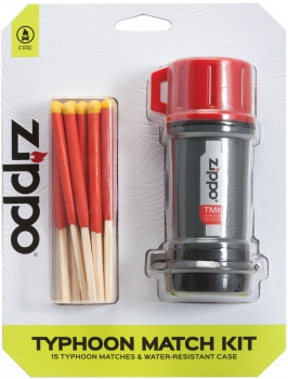 Zippo Typhoon Match Kit-red & Gray lights 40483