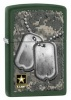 Zippo US ARMY DOG TAGS/ GREEN MATTE - 28513