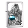 Zippo MERMAID & ORB BRUSHED CHROME - 28651