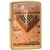 Zippo BULLETS / BRUSHED BRASS - 28674