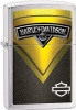 Zippo BRUSH CHRM YELLOW HARLEY DAVID - 28821