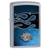 Zippo ST CHRM BLUE/BLK FLAME - 28822