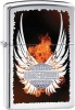Zippo HIGH POL CHRM HD W/ FLAME WING - 28824