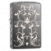 Zippo BLACK ICE FLORAL DESIGN - 28833