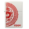 Zippo WHITE MATTE/RED CHINESE THEME - 28855