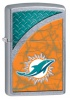 Zippo NFL DOLPHINS  STREET CHROME - 29367