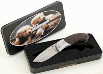 Browning Knife in Puppy Tin BR322-824