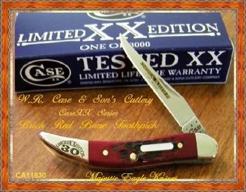 Case Lt Ed Xxx Red Bon Sm Tx Tooth knives 11630