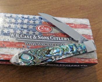Case Abalone Tear Drop knives 12016