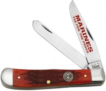 Case Marine Dark Red Trapper/ Tin knives 13172