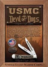 Case Usmc Comm Sm Nat Trapper /box knives 13185