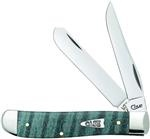 Case Turquoise Curly Maple Wood Smooth Mini Trapper (7207 Ss) knives 23366