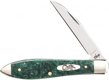 Case Green Sparkle Kir Tear Drop knives 32581
