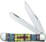 Case Stained Glass Cross Natural Bone Color Wash Trapper (6254 Ss) knives 38713