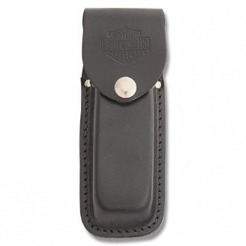 Case Lrg Blk Harley Leather Sheath knives 52098