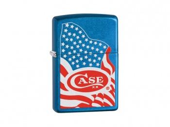 Case Zippo Lighter-usa Flag knives 52443