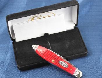 Case Wrkd Blstr Red Bn Teardrop knives 53219