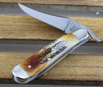 Case 6.5 Burnt Bonestag Russlock knives 65303