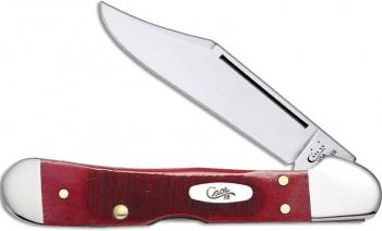 Case Sawct Drk Red Bn Mini Copperlk knives 69404