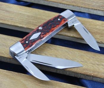Case Tb Peach Jig Chsnt Bn Cattle knives 7223