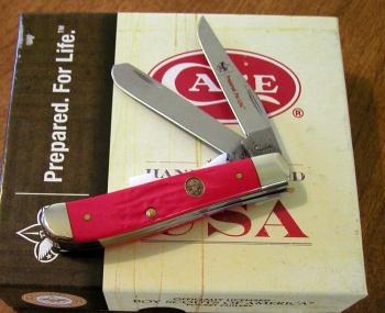 Case Bsa Rough Red Delrin Mini Trap knives 7998