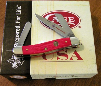 Case Bsa Rough Red Med Stockman knives 7999