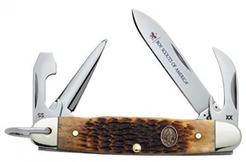 Case Bsa Antique Bone Jr. Scout knives 18032