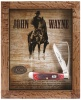 Case John Wayne Commemorative - Barnboard Jig Dark Red Bone Equestrian's Knife (6254HP SS) - 10691