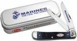 Case U. S.Marine Corps - Rogers Jig Navy Blue Bone Trapper (6254 SS) - 13170