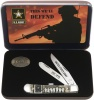 Case U. S. Army - Embellished Natural Bone Trapper (6254 SS) Gift Set in Jewel Box - 15000