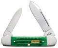 Case John Deere - Bright Green Bone Corn Cob Jig Canoe (62131 SS) in Gift Tin - 15748
