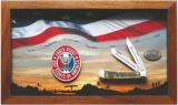 Case BSA Eagle Scout Commemorative - Embellished Smooth Natural Bone Trapper (6254 SS) in Wooden Display - 18039