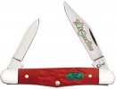 Case Christmas - Rough Dark Red Synthetic Half Whittler (6208 SS) - 25676