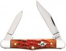 Case Burnt Salmon Bone - Peach Seed Jig Half Whittler (6208 SS) - 27056