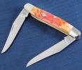 Case Burnt Salmon Bone - Peach Seed Jig Muskrat (MUSKRAT SS) - 27057