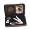 Case Zac Brown Band Gift Set - Smooth Natural Bone w/Amber Color Wash Trapper (6254 SS) in Jewel Box - 48260